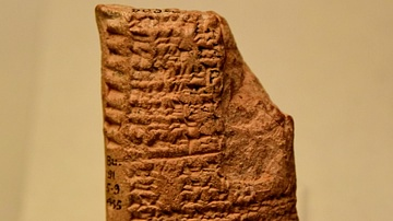 Cuneiform Tablet Listing the Names of Old Babylonian Kings