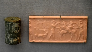 Cylinder Seal Showing a Contest Scene