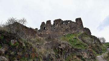 Ruins of Amberd Fortress in Armenia