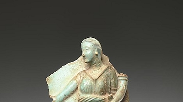 Vase Fragment Portraying Berenike II as Isis-Aphrodite