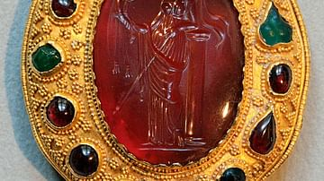 Carnelian Intaglio of a Ptolemaic Queen as Aphrodite