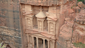 The Treasury of Petra From Above
