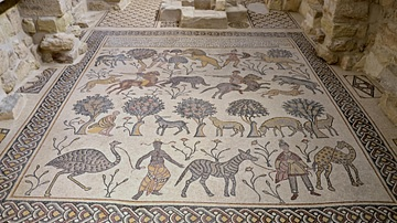 Mosaic in the Memorial Church of Moses, Mount Nebo