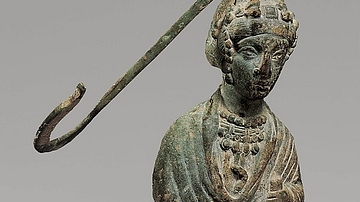 Steelyard Weight with a Bust of a Byzantine Empress