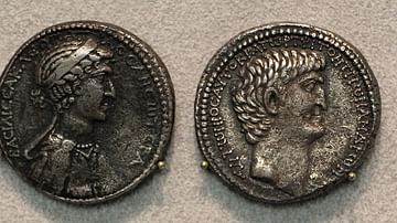 Silver Tetradrachm Portraying Antony and Cleopatra
