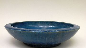 Ptolemaic Blue Faience Bowl