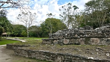 Maya Tomb Structure at San Gervasio