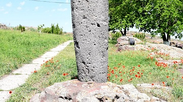 Vishap Stone at Metsamor, Armenia