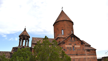 View of  St. Astvatsatsin Church at Khor Virap Monastery