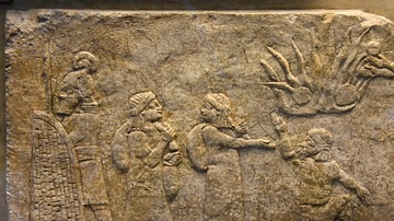 Assyrian Relief Showing Babylonian Prisoners