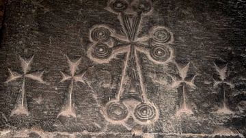 Carved Crosses in Surb Astvatsatsin Church at Noravank