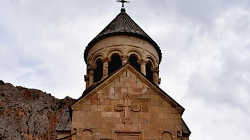 Façade of Surb Astvatsatsin Church at Noravank