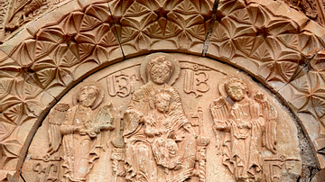 Detail from Surb Astvatsatsin Church at Noravank