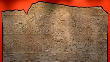 Assyrian Army Attacking Memphis