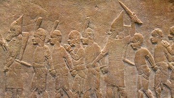 Assyrian Soldiers with Nubian Prisoners