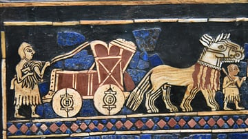 Chariot in the War Scene of the Standard of Ur