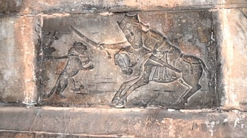 Hunting Scene Bas-Relief at Noravank Monastery