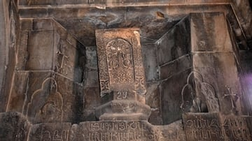 Khachkar within Noravank Monastery's Surb Karapet Church