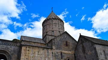 Exterior View of the Church of St. Pogos and Petros at Armenia's Tatev Monastery