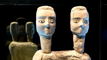 Two-Headed Statue from Ain Ghazal