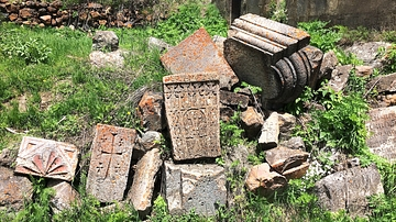 Architectural Ruins from Arates Monastery in Armenia