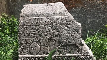 Memorial Stone at Arates Monastery in Armenia