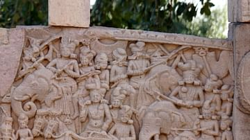 Mauryan and Pre-Mauryan soldiers from the Sanchi Stupa