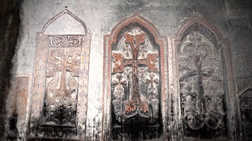 Ancient Crosses at Geghard Monastery