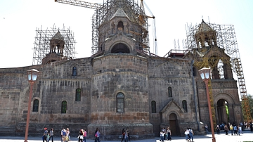 Side View of the Etchmiadzin Cathedral in Armenia