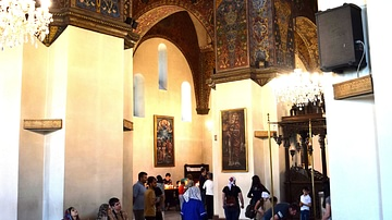 Interior of Armenia's Etchmiadzin Cathedral