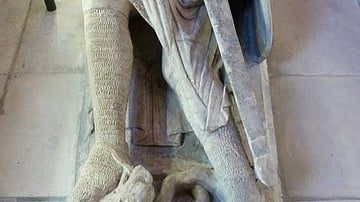 Effigy of Gilbert Marshal at Temple Church, London