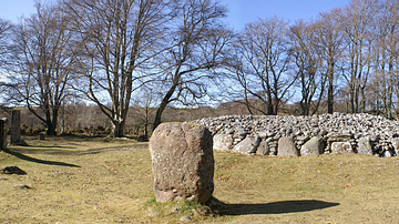 Clava Cairns Panorama