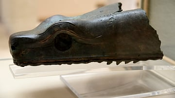 Head of a Serpent from the Serpent Column