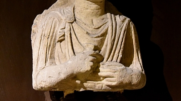 Palmyrene Funerary Relief Bust of a Priest