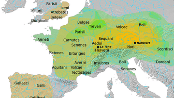 Map of Hallstatt & La Tène Cultures