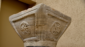 Capital with Monograms of Justinian I and Theodora