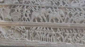 War Elephants of the Rashtrakutas, Ellora Caves