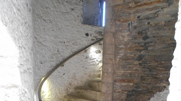 Vice or Spiral Staircase, Caerphilly Castle