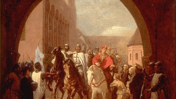 Teutonic Knights Entering Marienburg Castle