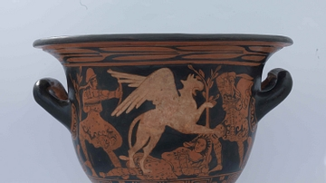 Red-figure Bell Krater with Griffin