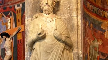 Sculpture of Charlemagne - Abbey of Saint John at Müstair