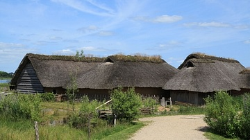 Reconstructed Viking Houses at Hedeby
