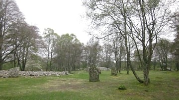 Panorama of The Balnuaran of Clava Cairns