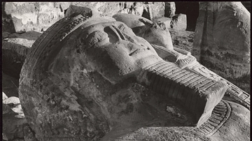 Head of a Colossus, Wadi es Sebui, Nubia