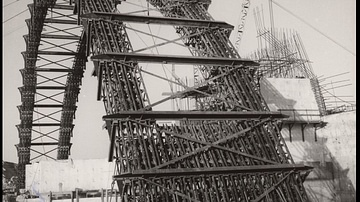 Scaffolding Arch of Abu Simbel Great Temple, 1966