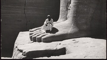 Giant Foot at Abu Simbel