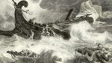 Phoenician Ship in a Storm