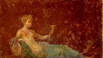 Wall Painting of a Reclining Naiad