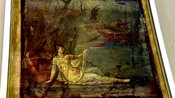 Fresco of Ariadne on Naxos