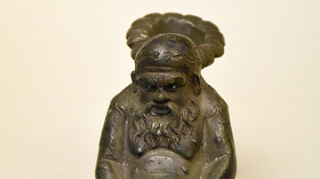 Bronze Lamp Depicting Silenus